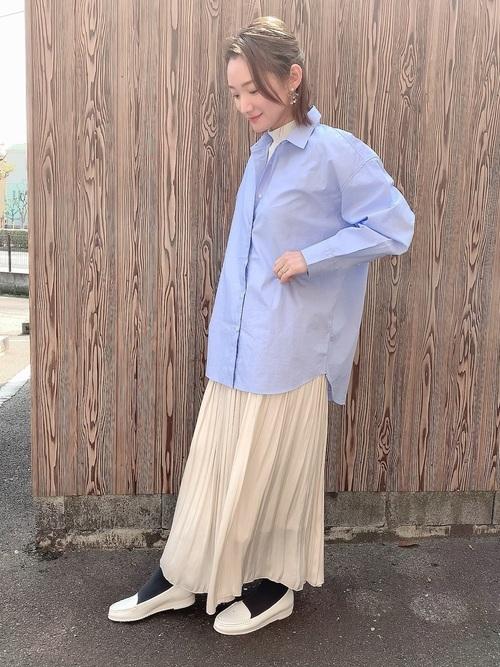 春のユニクロシャツコーデ集11