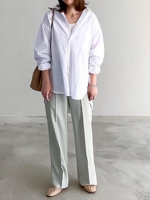 ブロードオーバーサイズシャツ