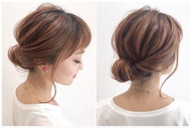 梅雨におすすめのヘアアレンジ《まとめ髪》2