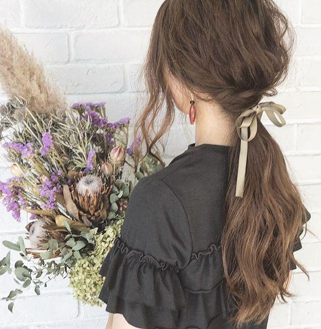 剛毛な女性におすすめのロングヘアアレンジ4