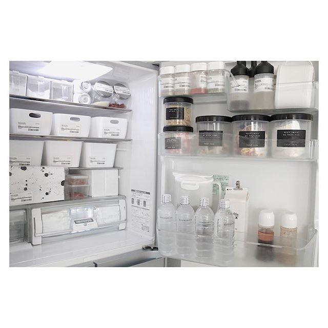 冷蔵庫ポケットのボトルを使うアイデア