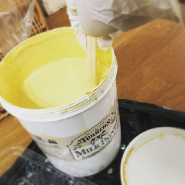 環境に優しい塗料②ミルクペイント