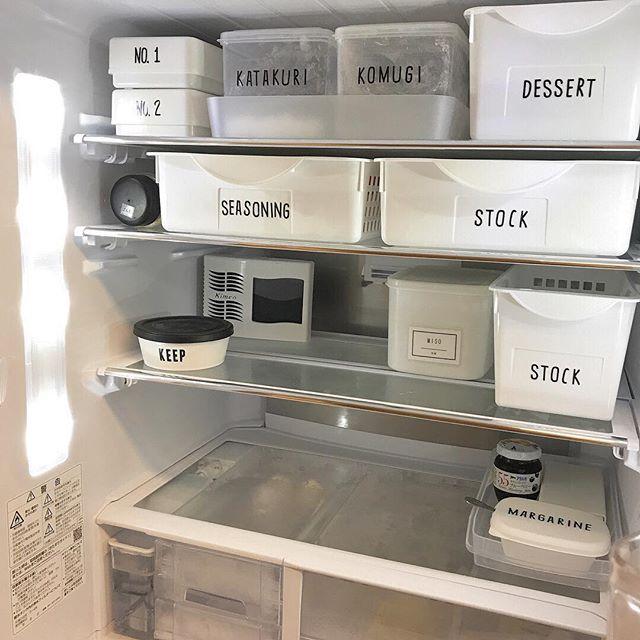 冷蔵庫にケースやトレーを加えるアイデア