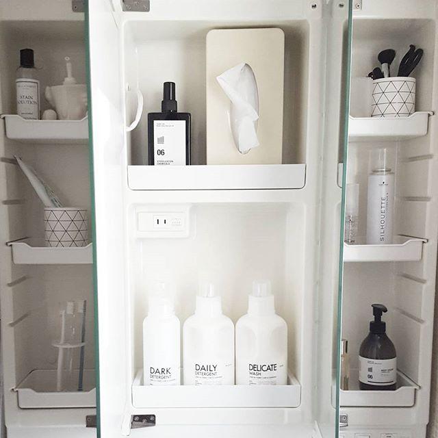 狭い部屋の収納アイデア《洗剤・洗面道具》4