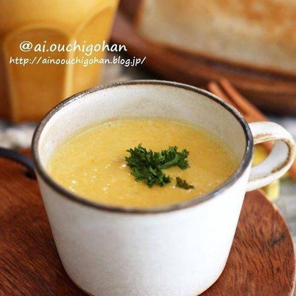 パンに合う簡単なかぼちゃのポタージュスープ
