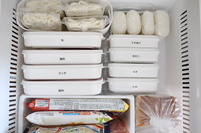 保存容器を使って整理整頓するアイデア