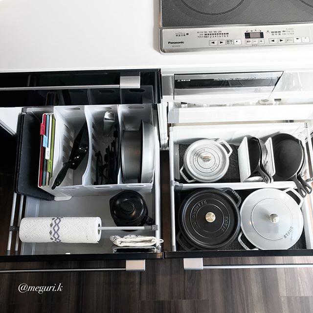 ファイルボックスを用いた台所道具の収納術