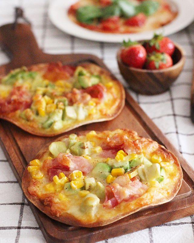 トルティーヤ生地で作る簡単ピザ