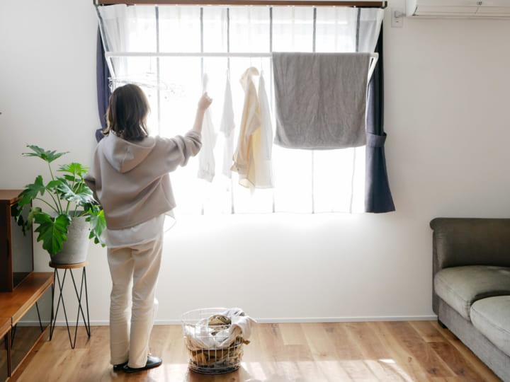 室内干しが楽しくなるおしゃれな物干し「soraie(ソライエ)」2