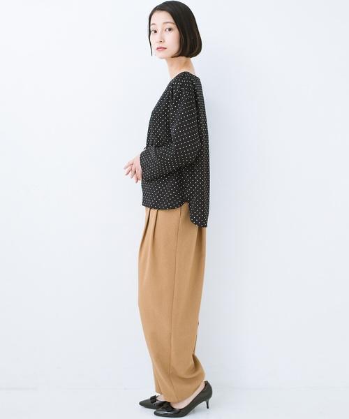[haco!] パッと着て上品&きれい やっぱり便利なドットTブラウス