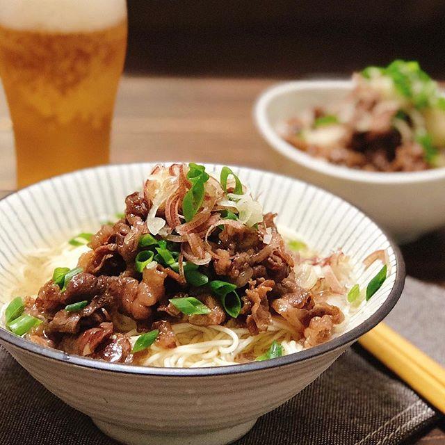 父の日に和食のレシピを!牛肉ぶっかけ素麺