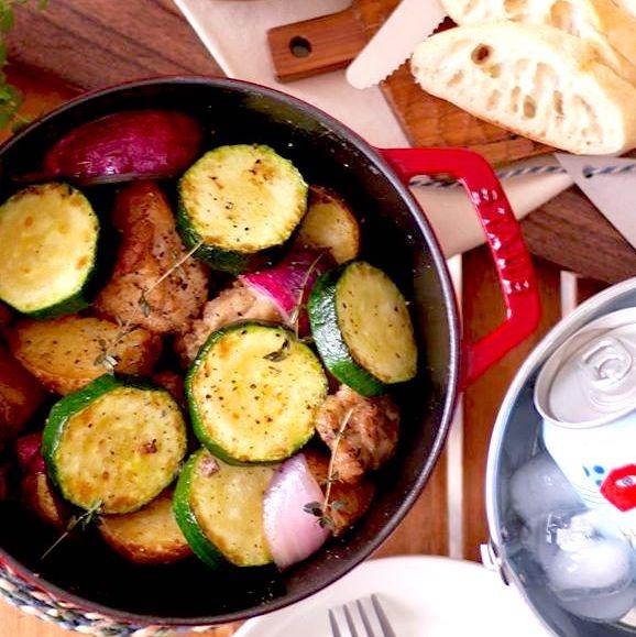 作り置きレシピ!鶏肉とズッキーニの香り炒め