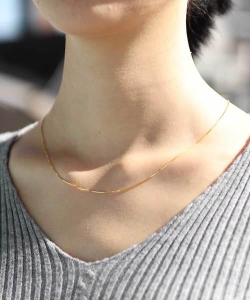気品あるベネチアンチェーンのネックレス