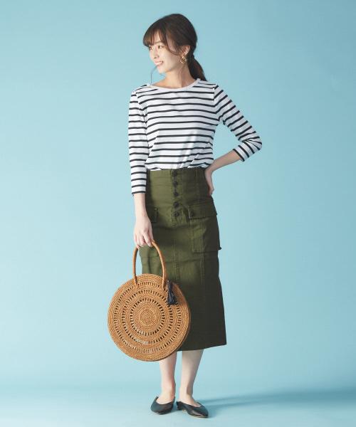 ミリタイトスカートの夏コーデ