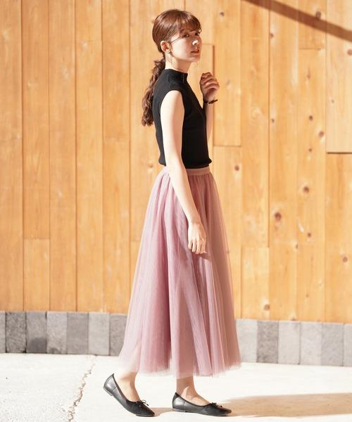フレアスカートの女っぽコーデ