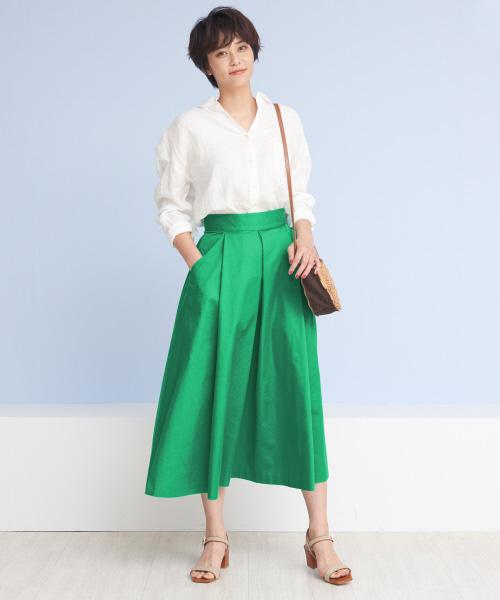 [Rouge vif la cle] ハイウエストポケット付きスカート