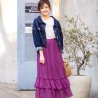「着回しベーシック」&「華やか着映え」♡春のスカート15選