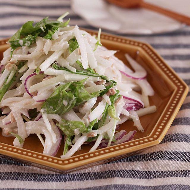 人気の食べ方!ツナ缶の簡単な大根サラダ