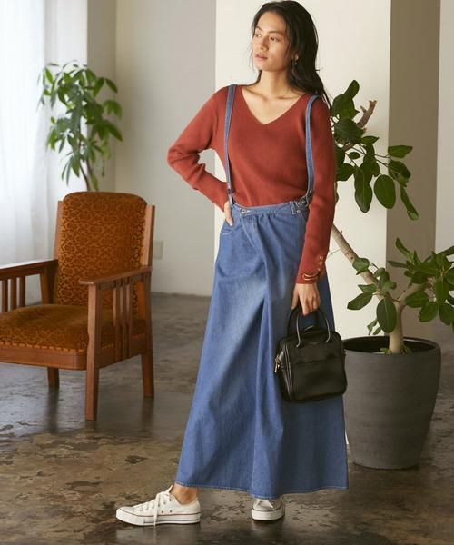 [Chaco closet] デニムサロペットスカート