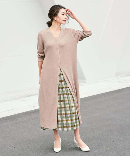 [ur's] チェックプリーツスカート