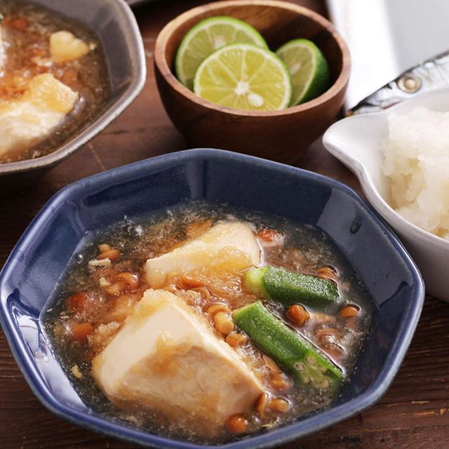 美味しいおつまみ!豆腐のおろしあんかけ豆腐