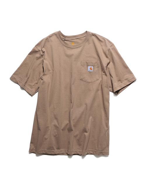 上品な胸ポケットデザインの半袖Tシャツ