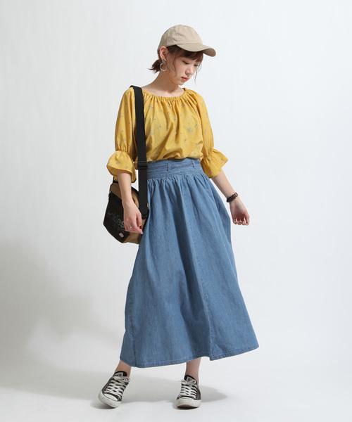 [ZIP FIVE] ウエストリボンZIP付きスカート