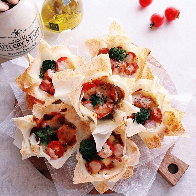 ラタトゥイユで作るおつまみピザ