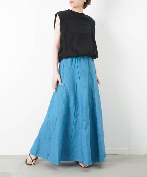 [LUCA/LADY LUCK LUCA] LC/LLL リネン マキシスカート
