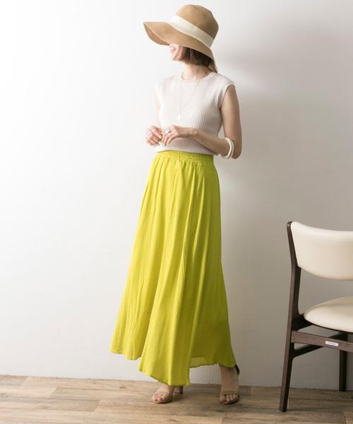 [URBAN RESEARCH] 【WEB限定】【LAB】2WAYシャーリングスカート