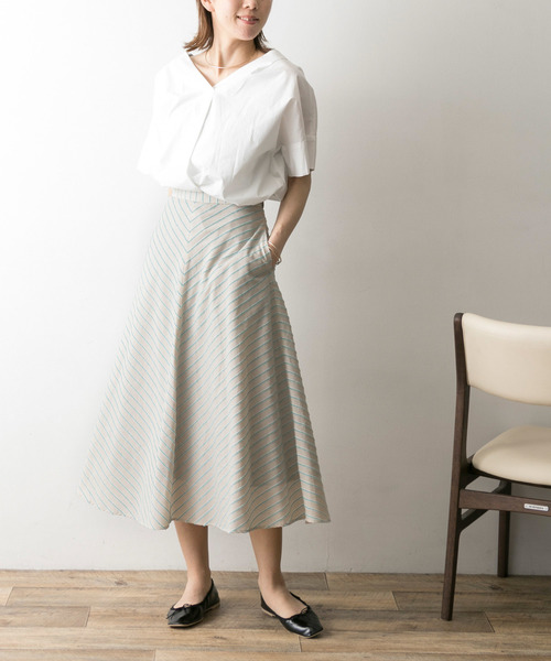 [URBAN RESEARCH] カラーストライプフレアスカート