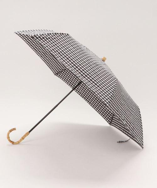 [SHIPS for women] ギンガムチェック 晴雨折りたたみ傘