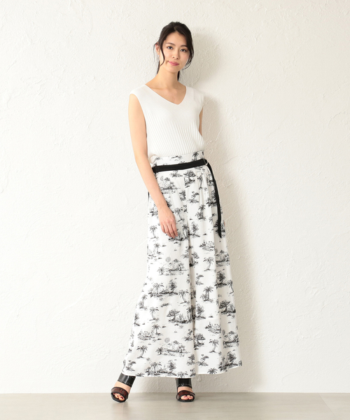 [LOVELESS] 【LOVELESS】WOMEN Toile du Jouy ワイドパンツ