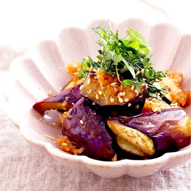 作り置き料理に!焼き茄子の生姜醤油マリネ