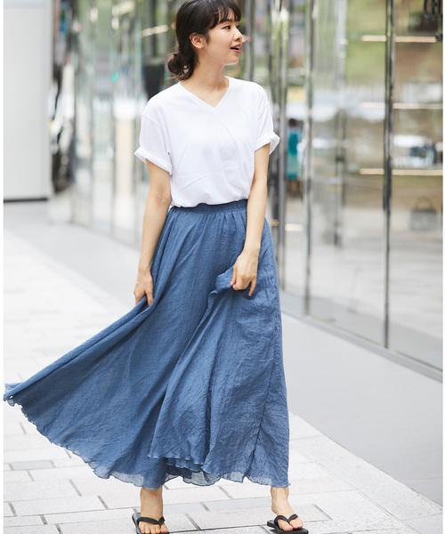 [SMILE ORCHID] マキシスカート ロングスカート