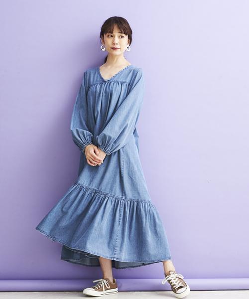 [A.I.C] 4OZデニム・マキシONE PIECE DRESS