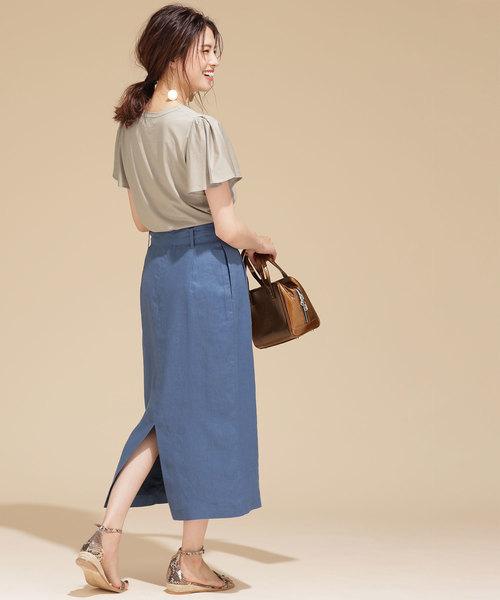 爽やかに見せるきれいめタイトスカートコーデ