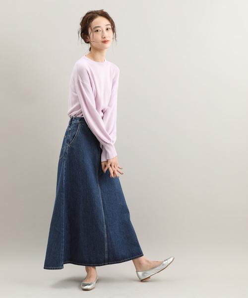 [ViS] 【Lee×ViS】デニムロングスカート