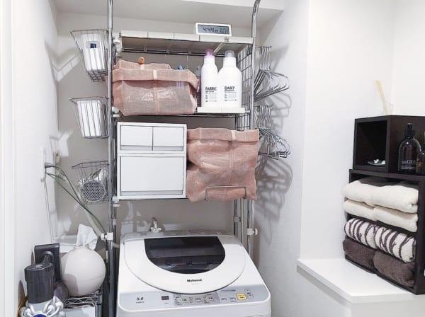 収納力抜群な洗濯機ラックで整理整頓