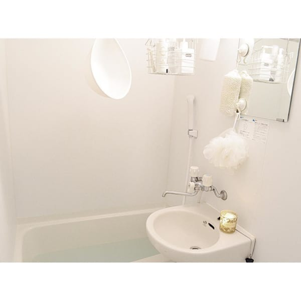 お風呂アイテムは吊るし収納で清潔に