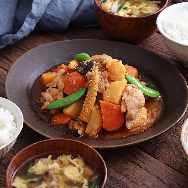 鶏肉とじゃがいものピリ辛チム
