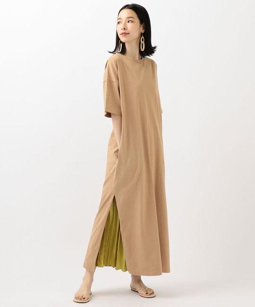 こなれ感のあるシャツドレスで夏コーデ