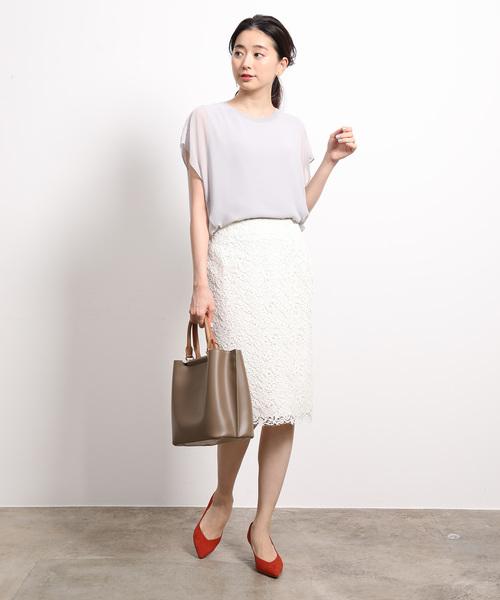 [ROPE'] ケミカルレースタイトスカート