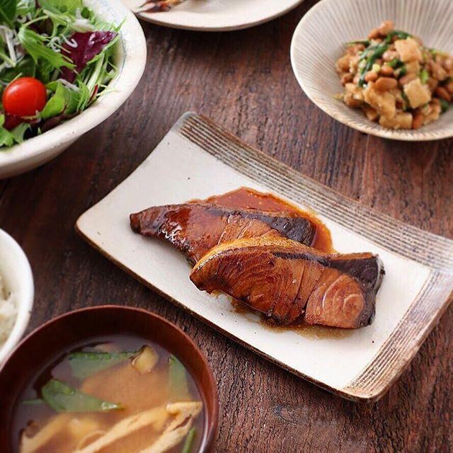 父の日のディナーは和食で!ぶりの照り焼き