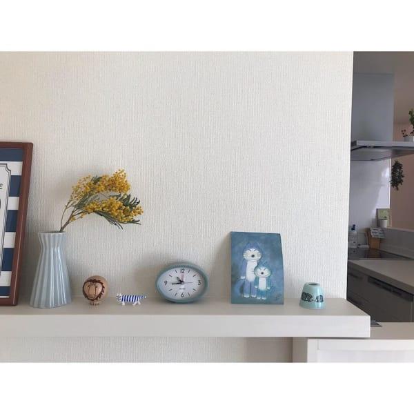 【セリア】アーバンな趣のオーバル型置き時計