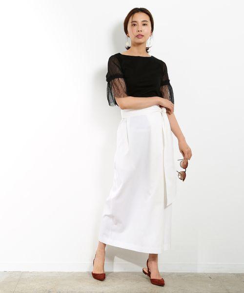 おしゃれニット×レディースロングスカート