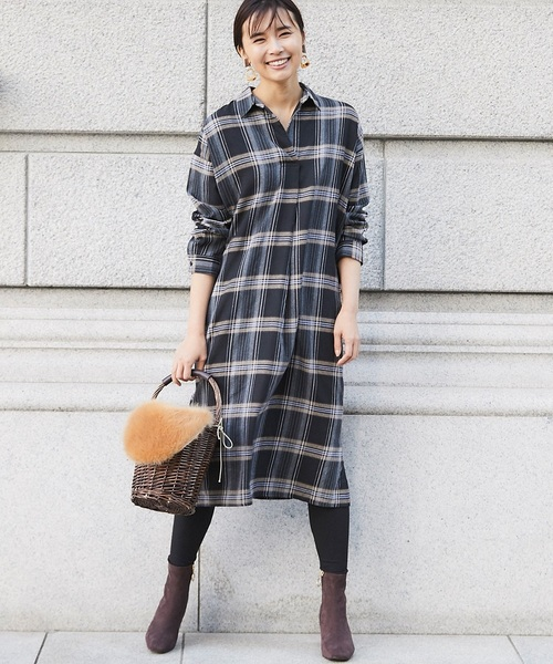 [tocco closet] シャツワンピース&レギンスセット