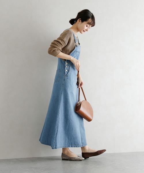 [La-gemme] デニムスカートサロペット