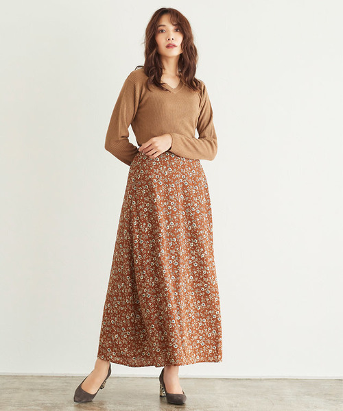 [Pierrot] 選べる花柄スカート