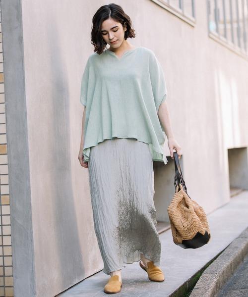 [Munich] ツイストプリーツロングスカート